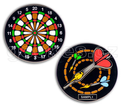 Dartboard Geocoin - Black Nickel - 2