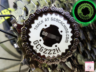 Bike & Seek Geocoin - Night Ride LE - 2