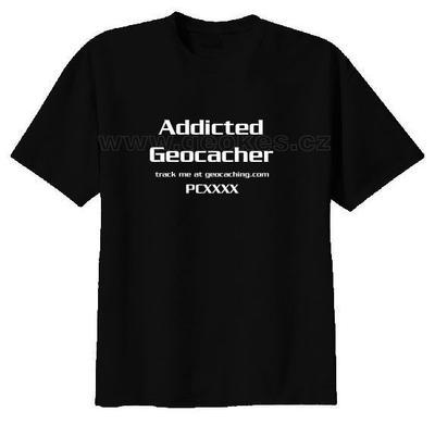 Trackable triko - Addicted Geocacher - 2