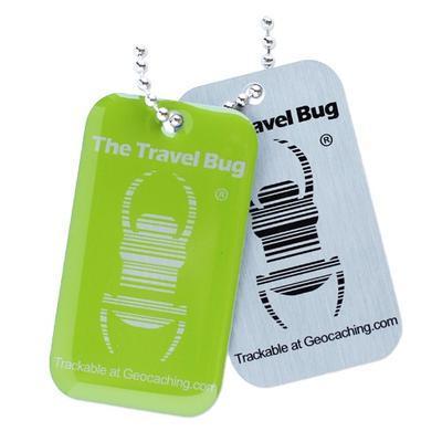 Travel Bug QR - zelený - 2