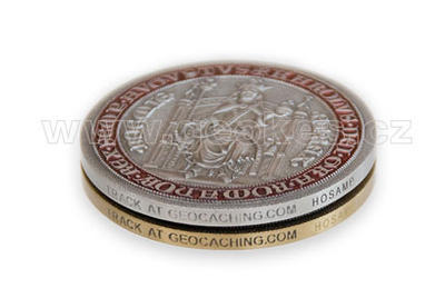 Karel IV – King of Bohemia Geocoin - Antique Gold - 2