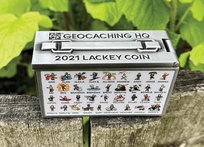 2021 Lackey Geocoin / Tag Set - 2