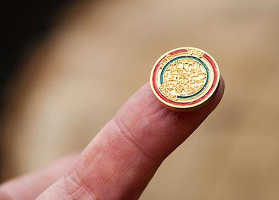 Mapamundi Microgeocoin Satin Gold - 2