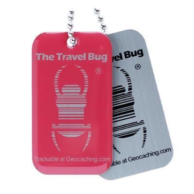 Travel Bug QR - červený - 2