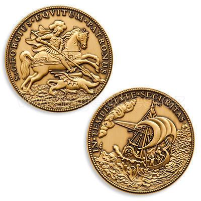 Svatý Jiří - Saint George Geocoin - Antique bronze - 2