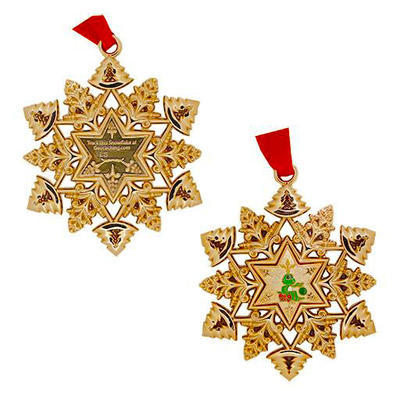 Christmas Snowflake Ornament Geocoin - 2