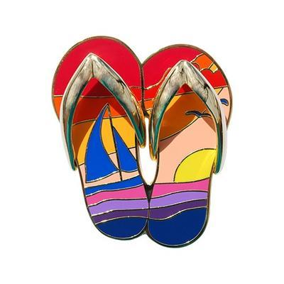 Sunset Flip Flops Geocoin - 2