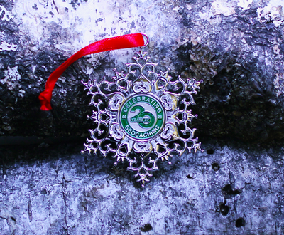 Snowflake Ornament Geocoin - Wreath - 3