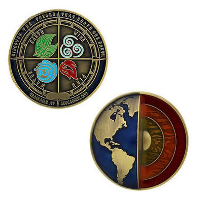 Four Elements Geocoin - Antique Gold - 3