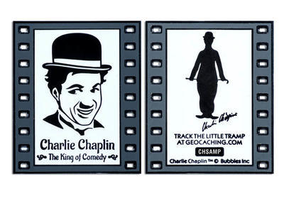 Charlie Chaplin - The King of Comedy Geocoin - 3