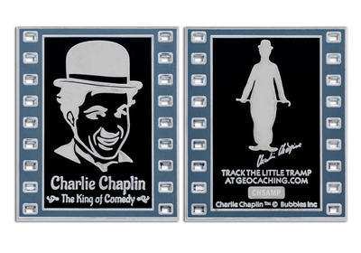 Charlie Chaplin - The King of Comedy Geocoin Negativ LE - 3