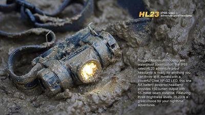 Čelovka Fenix HL23 - oranžovo černá - 3