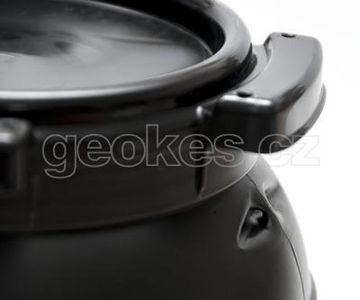 Černá geocache soudek 6 litrů - 3