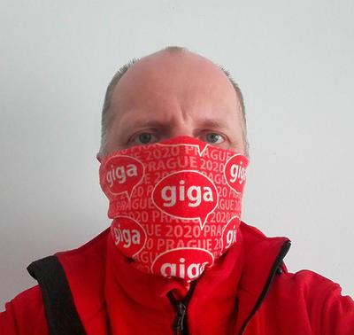 Funční šátek GIGA Prague 2020 - červený - 3