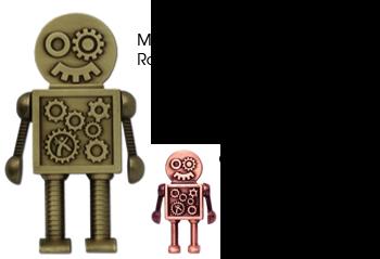 Steampunk Robot Geocoin - MEGA - 3