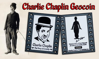 Charlie Chaplin - The King of Comedy Geocoin Negativ LE - 4