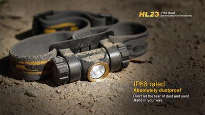 Čelovka Fenix HL23 - oranžovo černá - 4