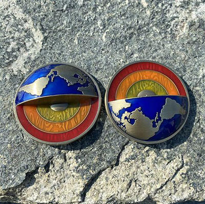 Four Elements Geocoin - Antique Gold - 4