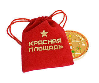 Red Square Moscow Russia Geocoin - gold - 4