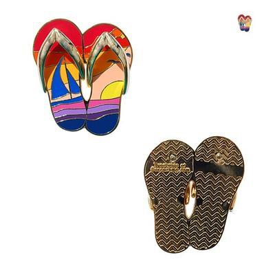 Sunset Flip Flops Geocoin - 4
