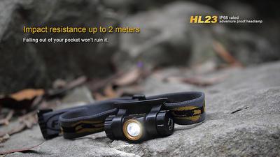 Čelovka Fenix HL23 - oranžovo černá - 5